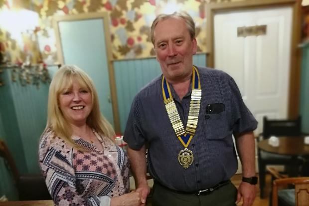 Rotary Club keep the chain moving with new president