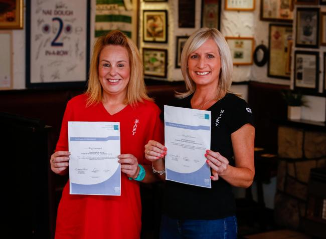 Mary Leonard (left) and Nicola Gauld have completed a mental health first aid training course