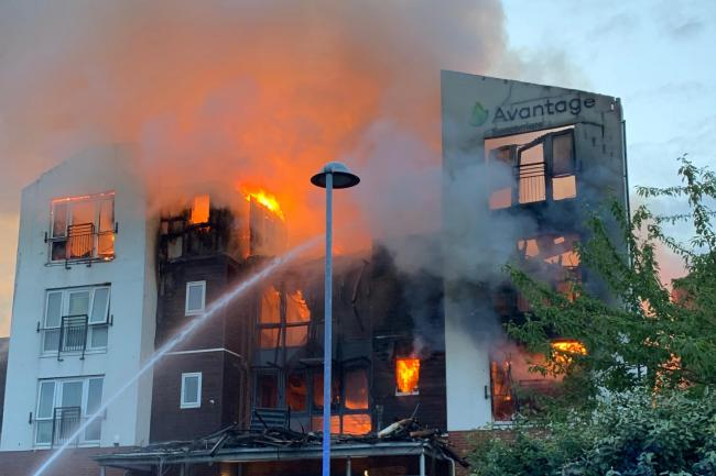 More than 100 evacuated amid fire at retirement apartment