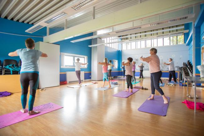 Yoga class helps residents make flexible friends