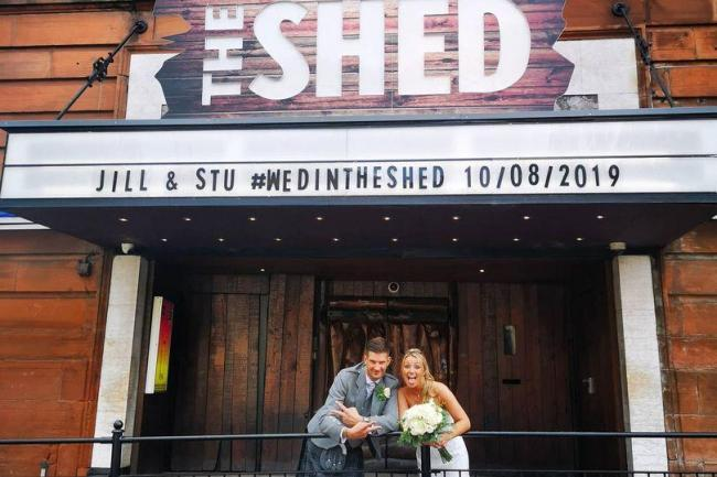 Glasgow's Shed holds its first ever wedding for Barrhead couple