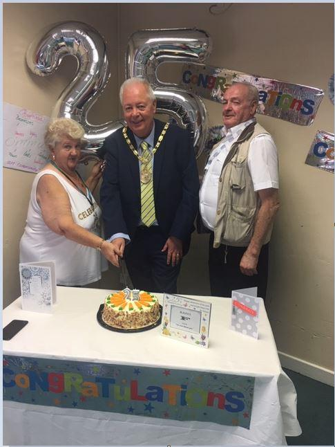 Barrhead News: Margaret Reilly and her husband James with Provost Jim Fletcher (centre)