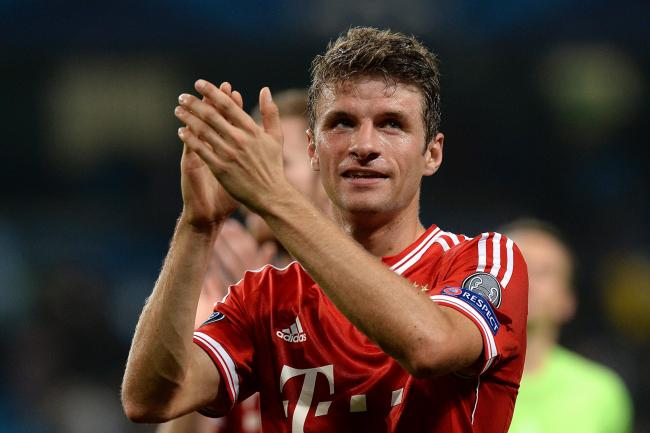 Thomas Muller scored from the bench against Red Star Belgrade