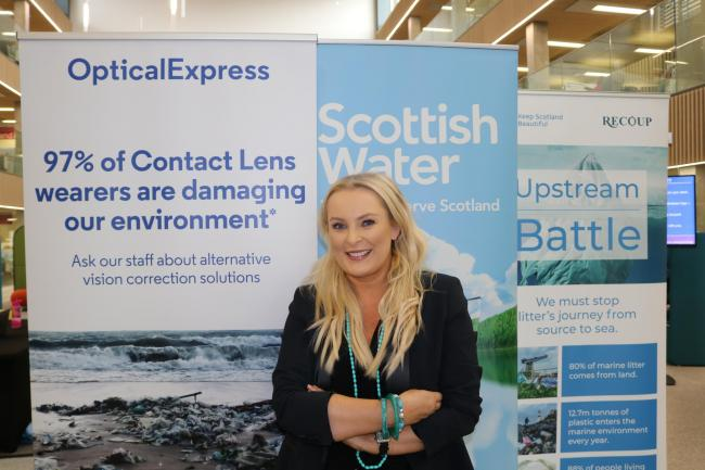 Heather Suttie is getting behind Scottish Water's Cycle Campaign to urge people who wear lenses to recycle them.