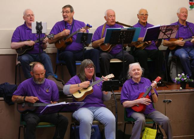 The Neilston Strings were a big hit as they performed to the Memory Lane group at St Andrew's Church