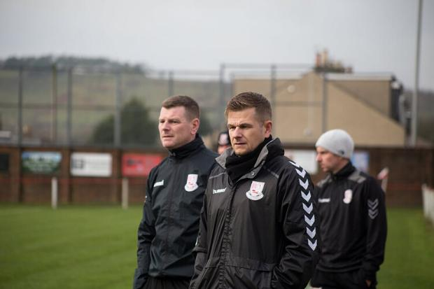 Co-manager Cameron, centre, delighted as high-flying Neilston continue blistering form