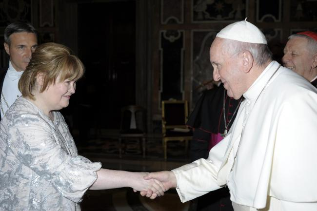 Susan Boyle and Pope Francis