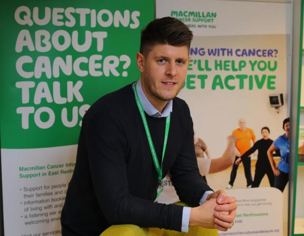 Barrhead News: Connor O'Boyle is project lead for Macmillan Cancer Support