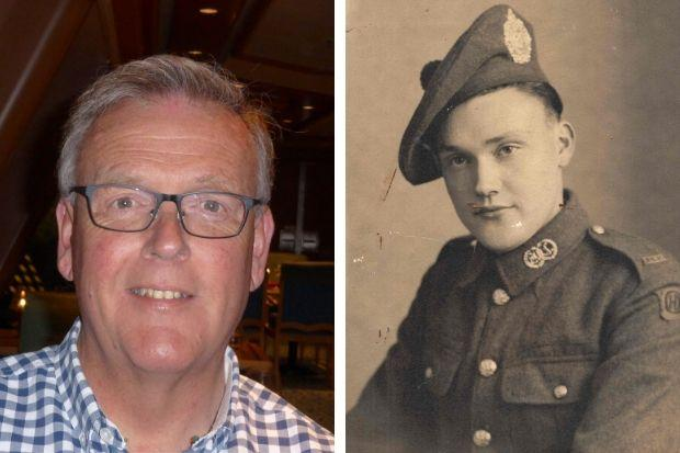 George Ratclfiffe (left) contacted the Barrhead News after reading about his uncle Fred (right)