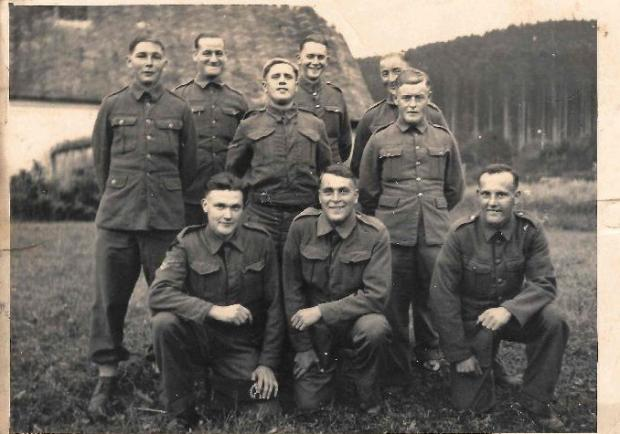 Barrhead News: Pte Ratcliffe (front left) with fellow POWs