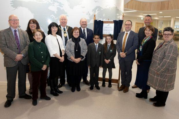 A plaque was unveiled as the new Maidenhill Primary School was officially declared open