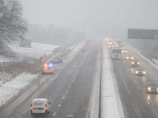 Driving conditions treacherous as Storm Ciara snow hits