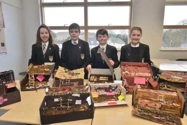 Barrhead High School pupils Abbie, Ryan, Oscar and Amy show off their handiwork