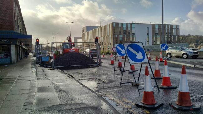 Barrhead's Main Street is already seeing work from Scottish Water
