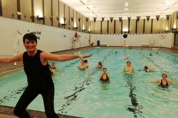 Clare Wilson leads the aquanatal sessions, which help women stay healthy during their pregnancy