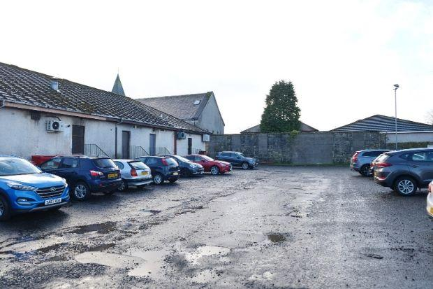 The car park at the shops in Neilston's Main Street