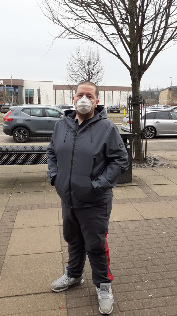 Barrhead News: Brian McDowell has been wearing a face mask