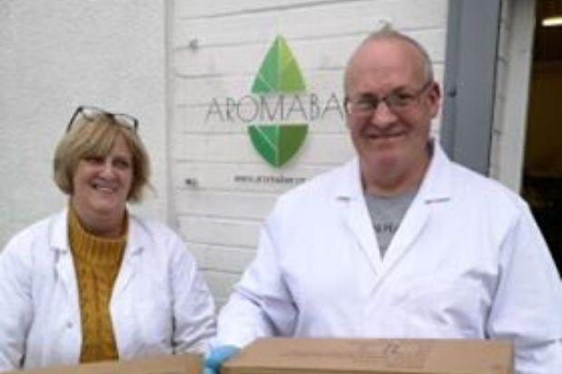 Cathy and Alan Grant, of Aromabar, have been thinking of others during the coronavirus crisis