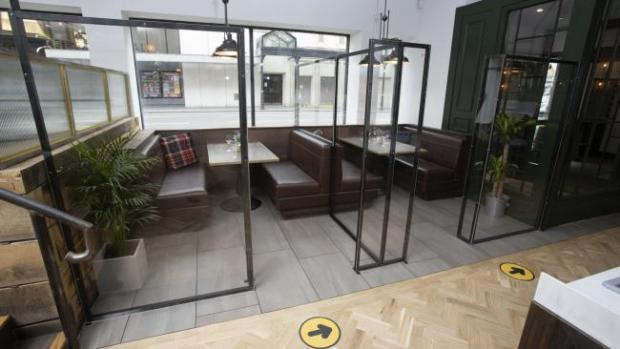 Barrhead News: Private pods separate customers
