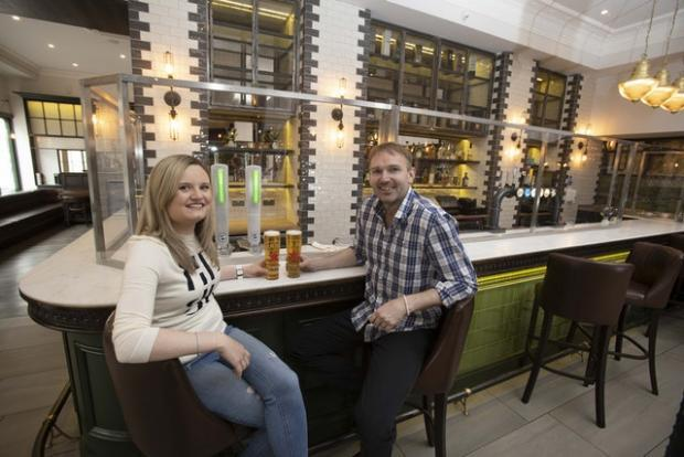 Barrhead News: Perspex glass is up at the bar