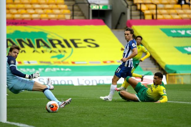 Brighton's Leandro Trossard scored his fourth goal of the season in the 1-0 win over Norwich