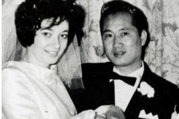 Barrhead businessman Philip Wong with his wife Josephine