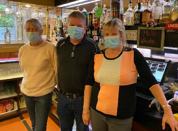 Sandra Kirk (right) with staff members Susan Forrest and Davie McCusker at the Kelburn Bar