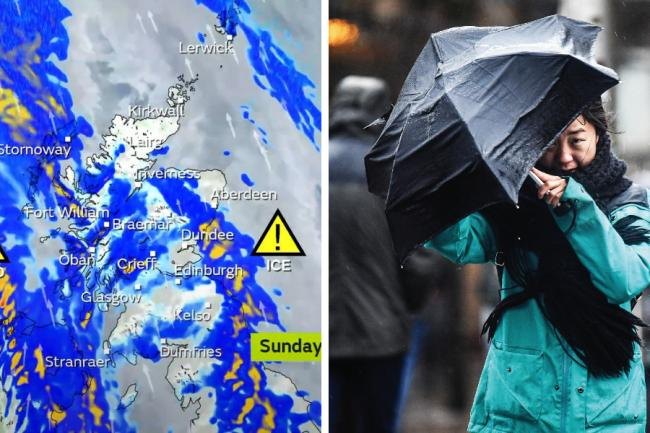 Scotland to be hit by freezing rain and 80pmh winds as cold snap continues