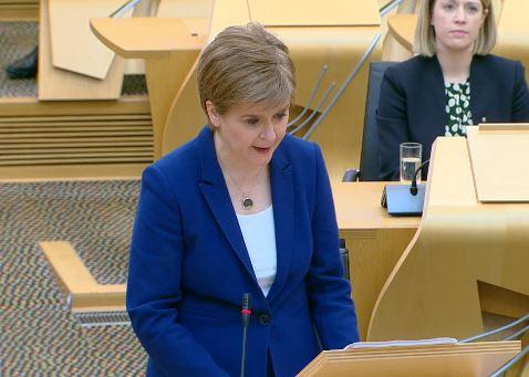 Nicola Sturgeon addressed the Scottish Parliament this afternoon