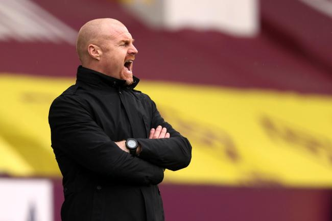Sean Dyche on the touchline