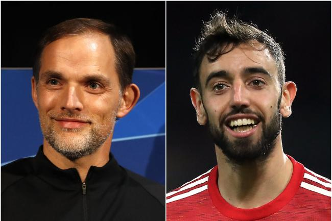 Thomas Tuchel, left, wanted Bruno Fernandes, right, at Paris St Germain