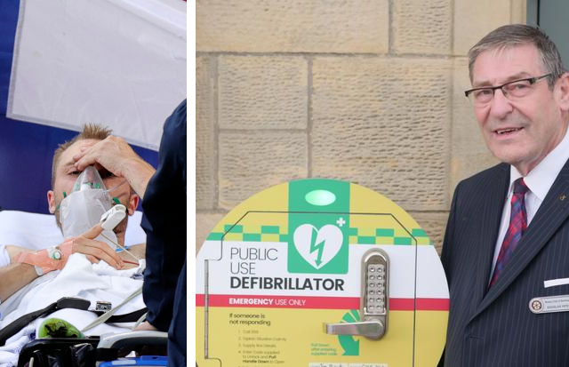 Barrhead: Town defibrillators calls after Eriksen collapse