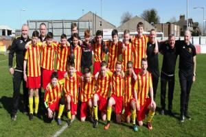 Barrhead YFC 2003 Reds take on Banks O'Dee Albion in Sunday's final