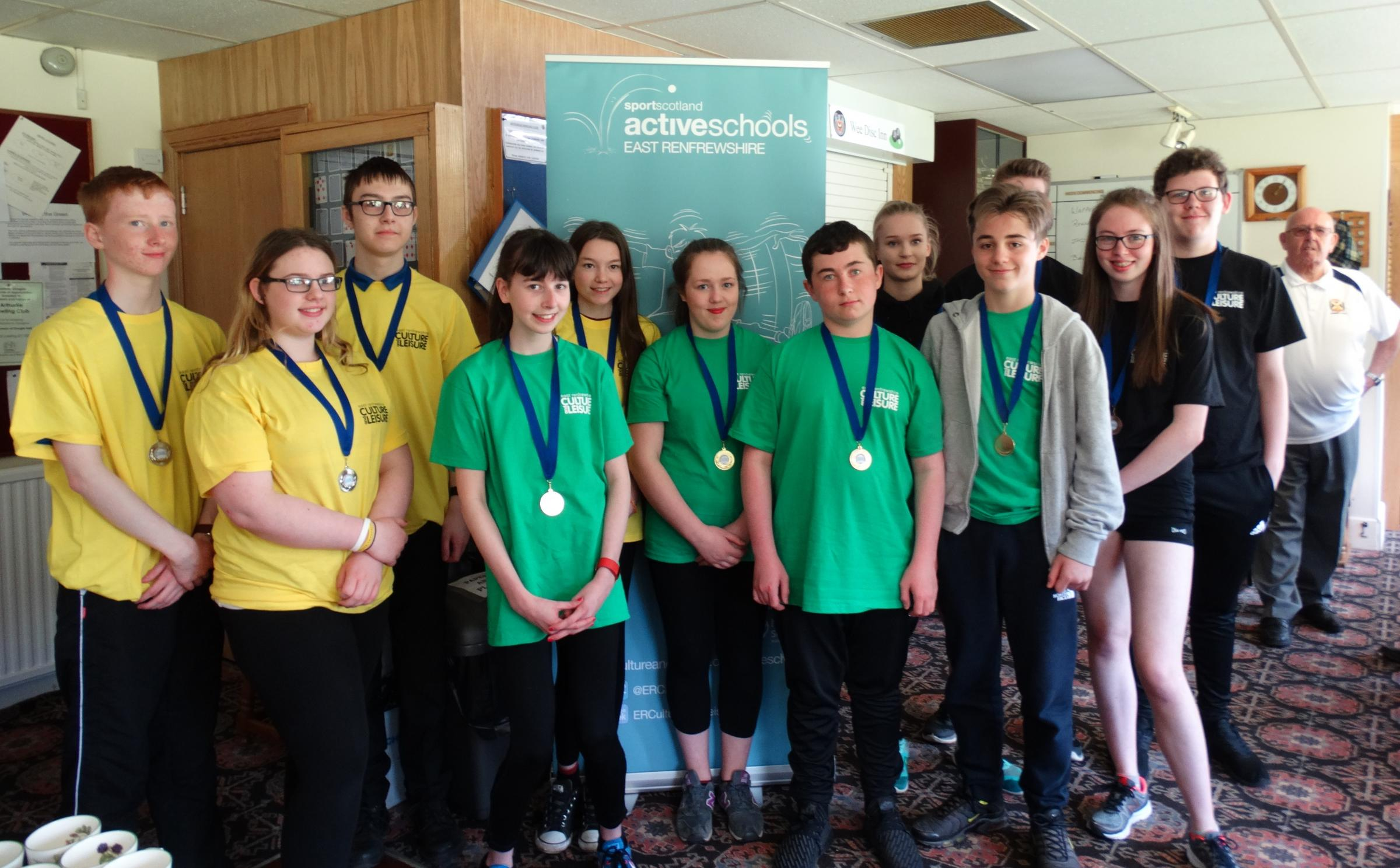 Pictured are the winners of the East Renfrewshire Secondary Games