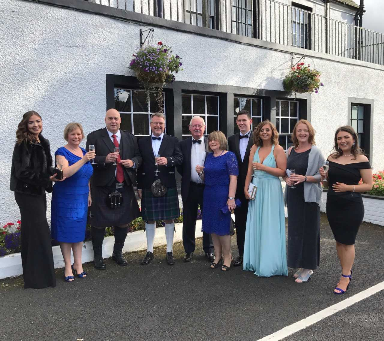 Staff at the Uplawmoor Hotel celebrate their award