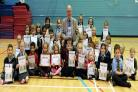 Councillor Colm Merrick presented kids with their Tesco Bank Summer Reading Challenge Awards