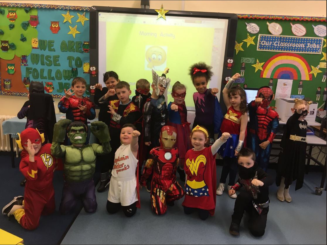 St Thomas' Primary pupils dressed as