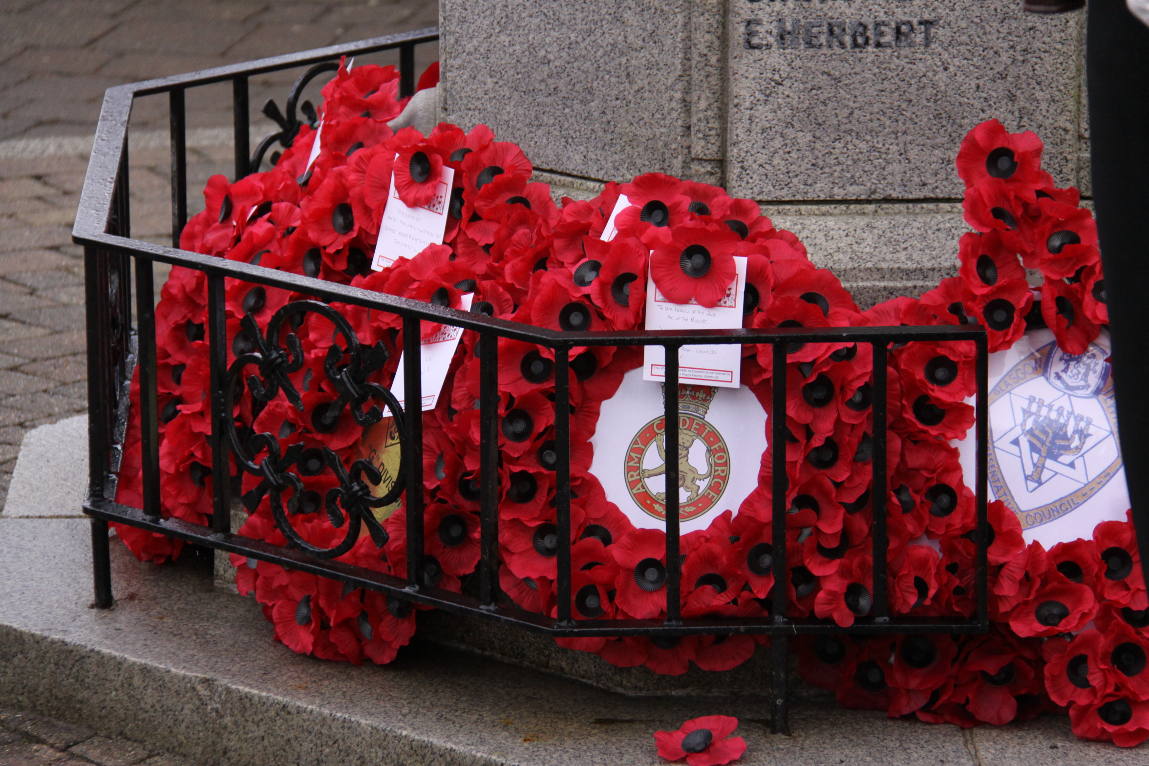A number of events will take place in East Renfrewshire to mark Remembrance Day