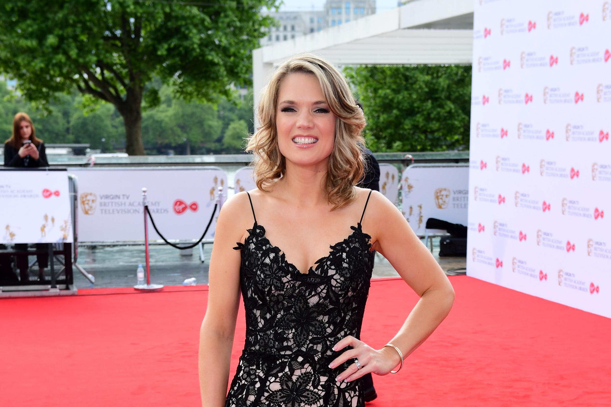 Charlotte Hawkins arriving for the Virgin TV British Academy Television Awards 2017 held at Festival Hall at Southbank Centre, London (Ian West/PA)