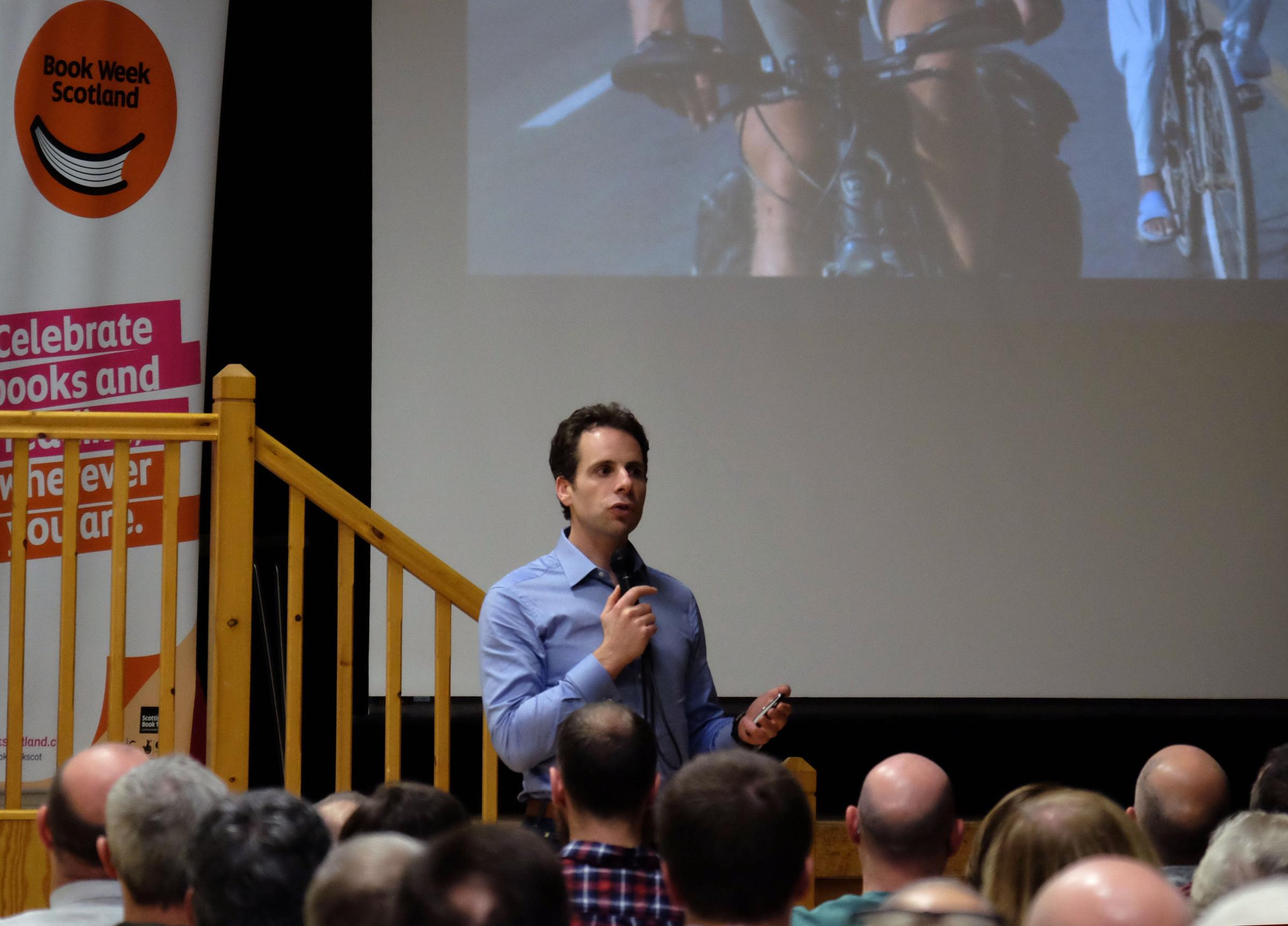 Mark Beaumont delivered a talk at Clarkston Hall