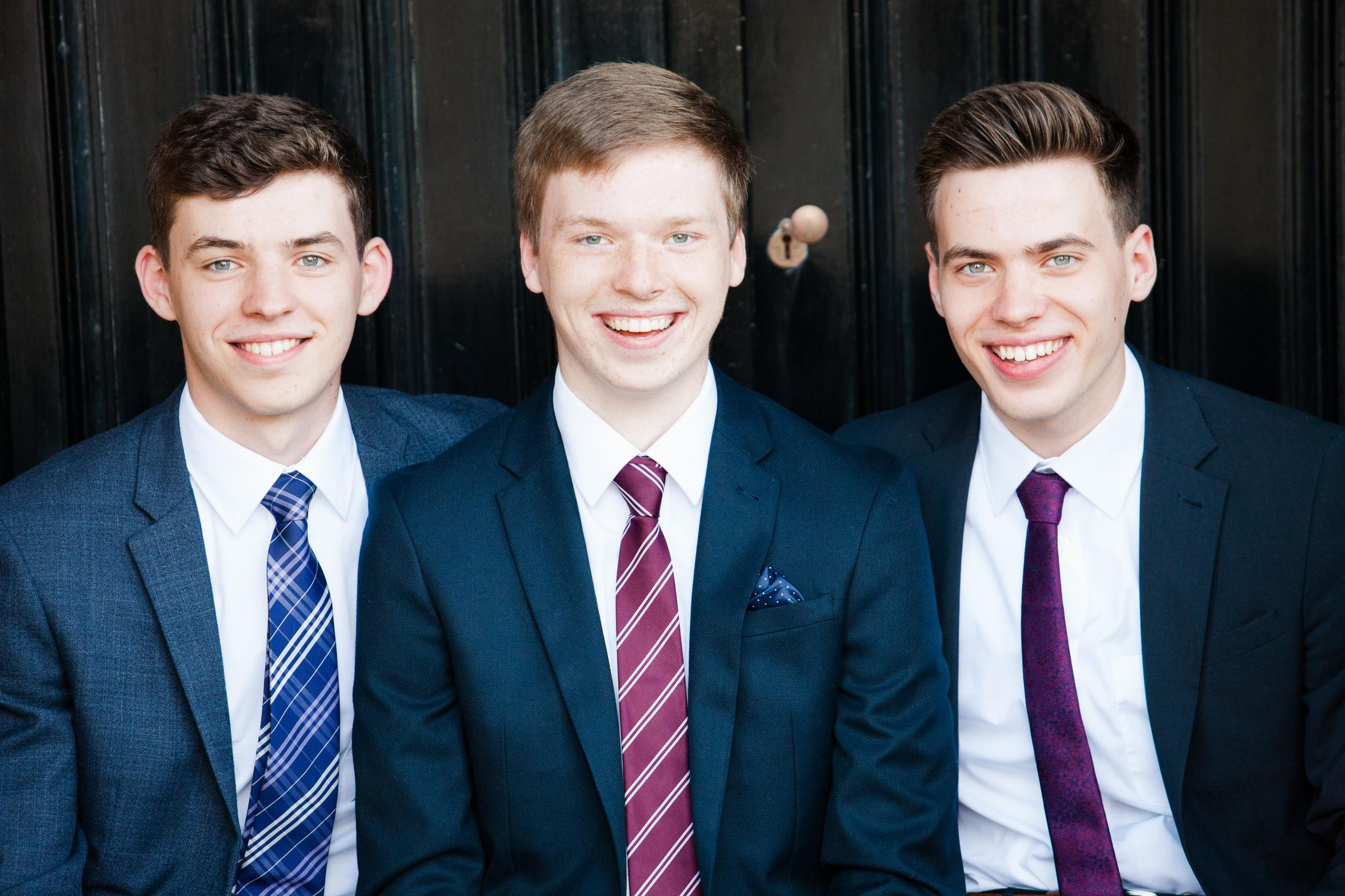 Miracle boy Cameron (centre) has a strong bid with triplet brothers Ewan (left) and Jared