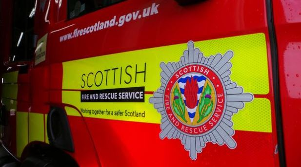 The Scottish Fire and Rescue Service extinguished the blaze on Neilston Road