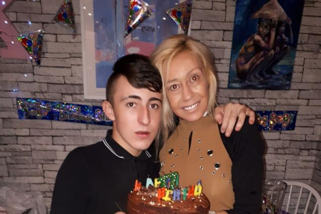 Kyle with his late mum Tracy. Picture: GoFundMe