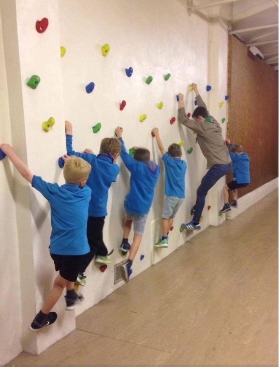 28th Glasgow (Giffnock) Scout Group climbing wall, installed with grant awarded in February 2017