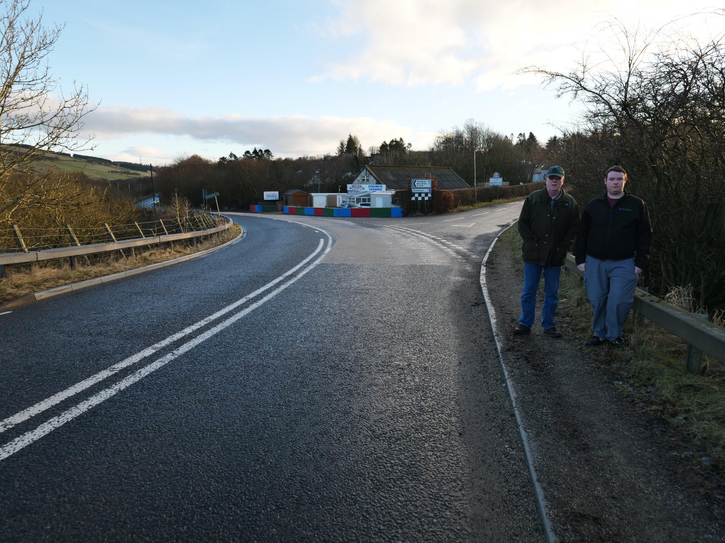 Community councillors raised the issue of safety on the A736 with the council back in February after figures revealed a consistent spate of accidents on the route