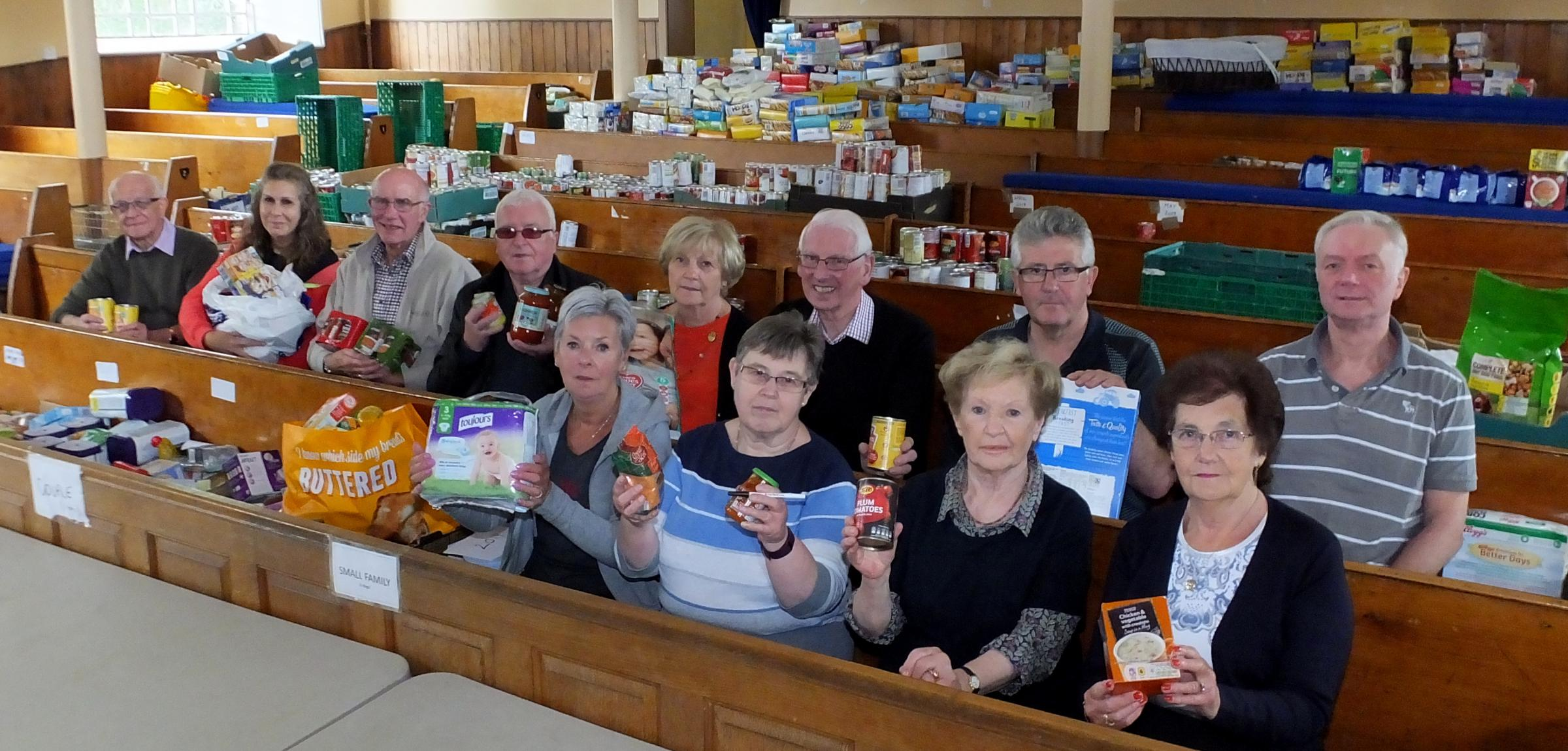 East Renfrewshire Foodbank volunteers handed out more than six tonnes of product last month