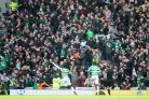 Celtic substitute Odsonne Edouard celebrates scoring the winner against Rangers at Ibrox (Jeff Holmes/PA)