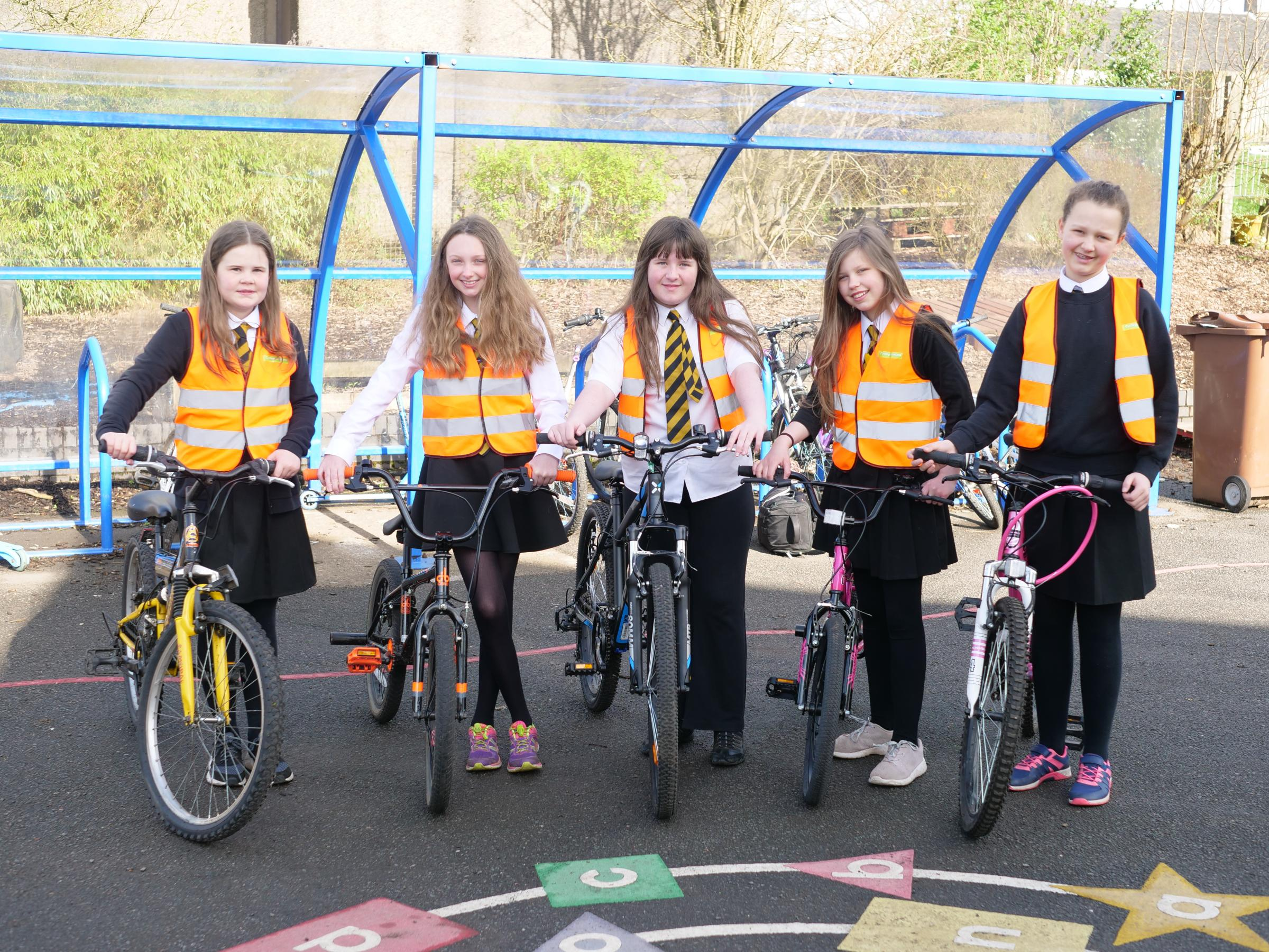 Neilston pupils promote safer cycling in village