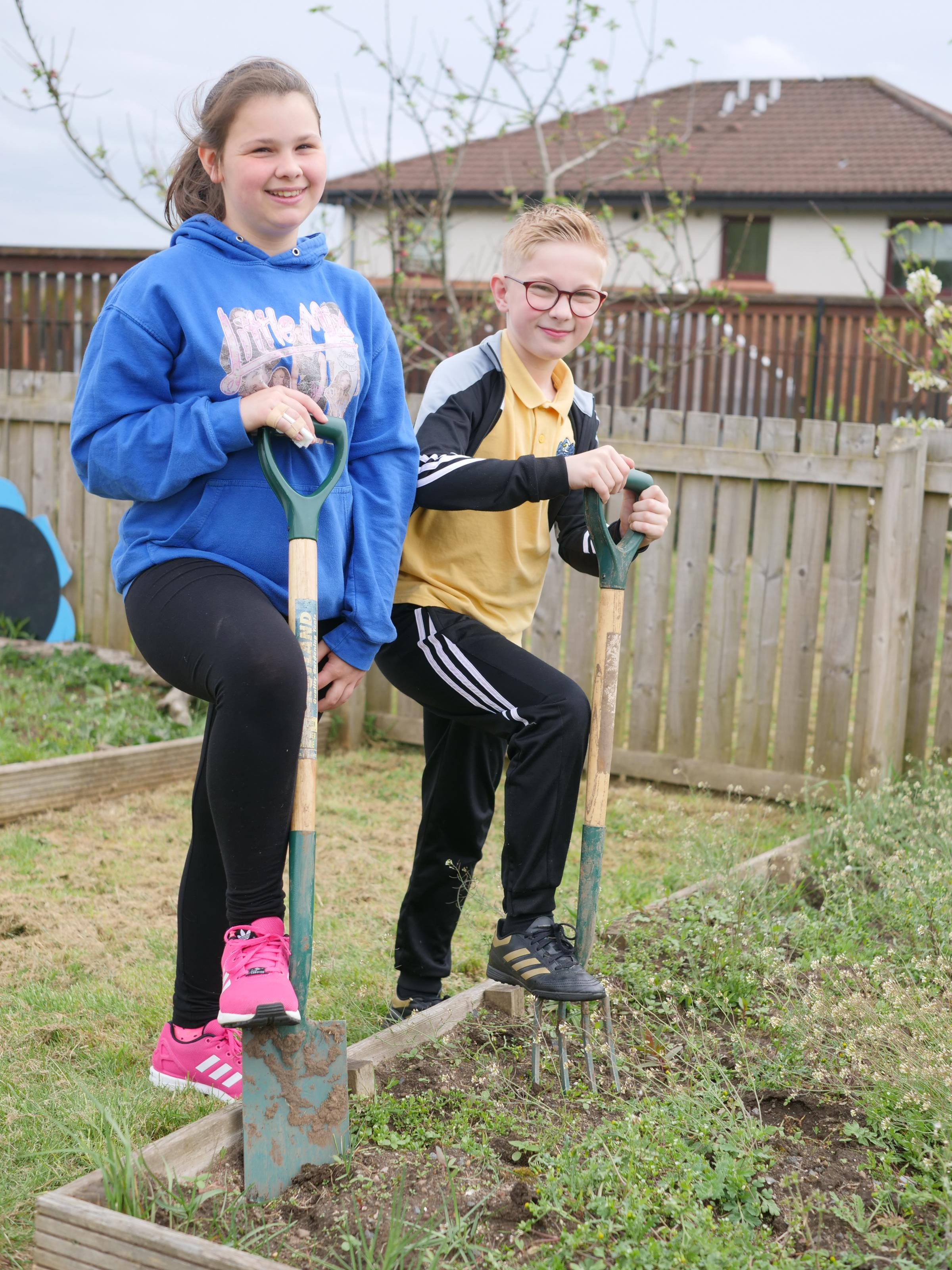 Abbigail Boyle and Luca Salmoni have been digging in to help out