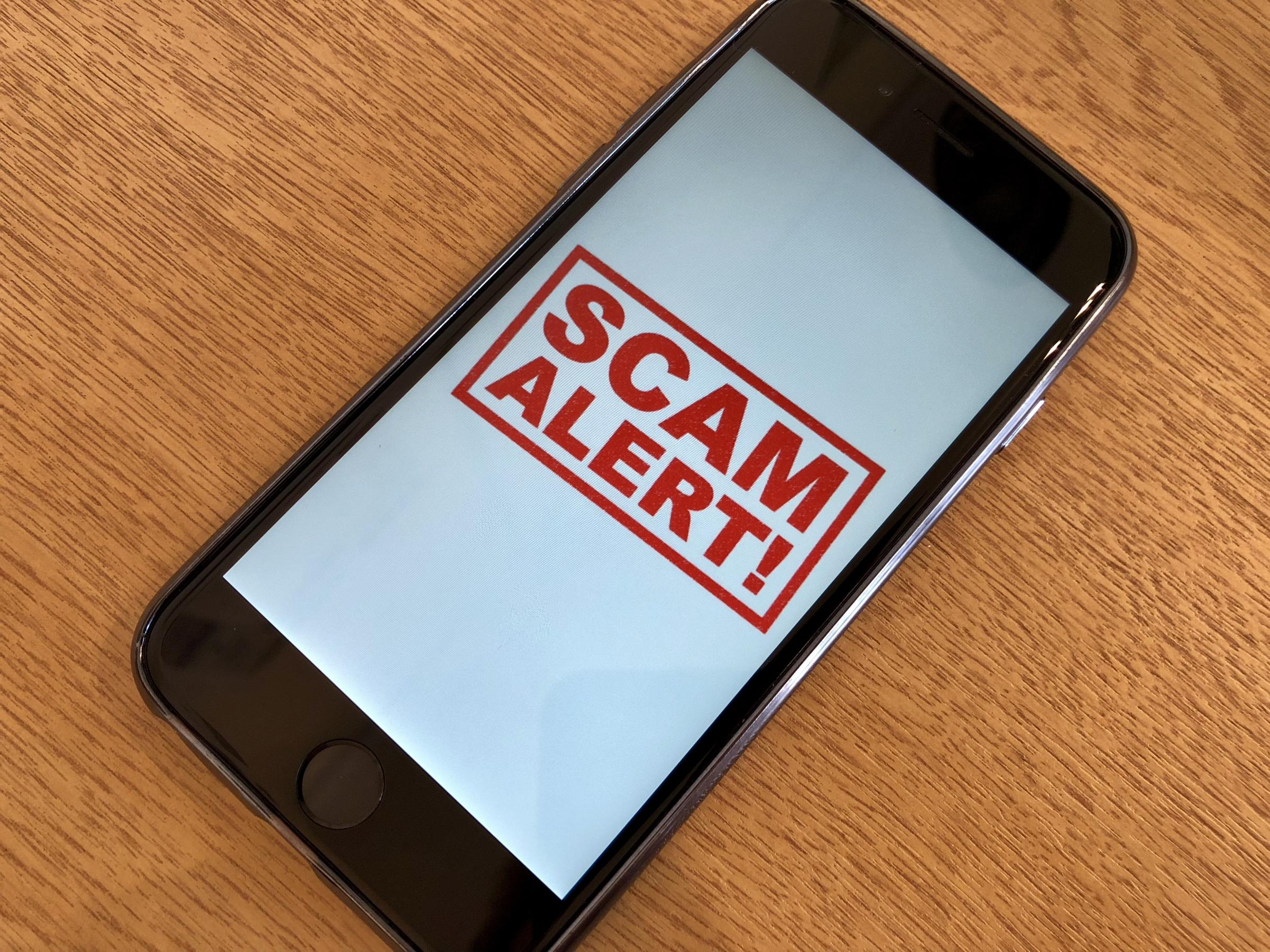 Many scam attempts are sent to people's mobile phones